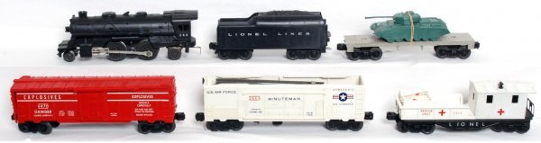 10: Lionel postwar O gauge Sears 9820 military set