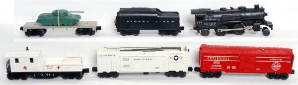 10: Lionel postwar O gauge Sears 9820 military set - 2