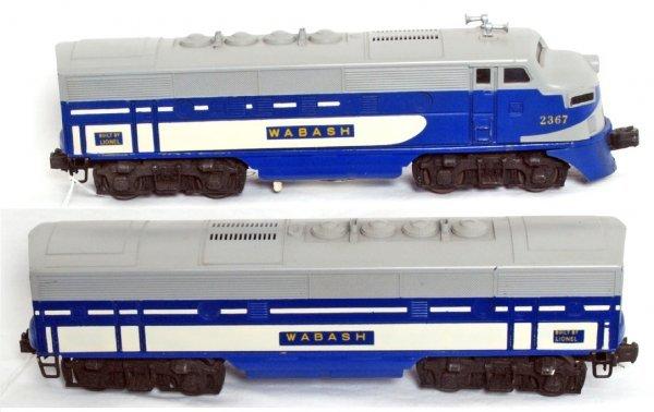 15: Lionel postwar O gauge 2367 Wabash F3 AB - 2