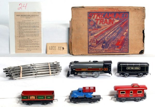 24: Boxed Marx No. 550 mechanical train set in OB