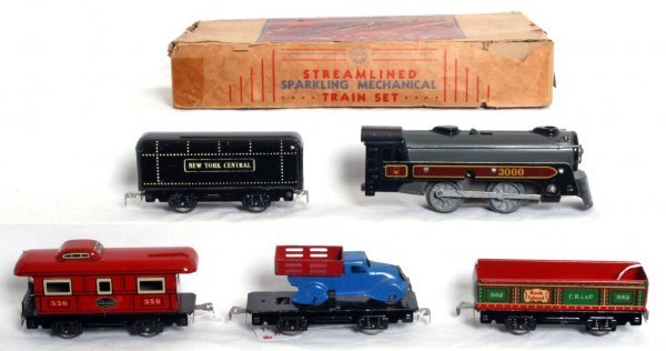 24: Boxed Marx No. 550 mechanical train set in OB - 2