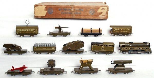 56: Marx Army Supply Train set in original box - 2