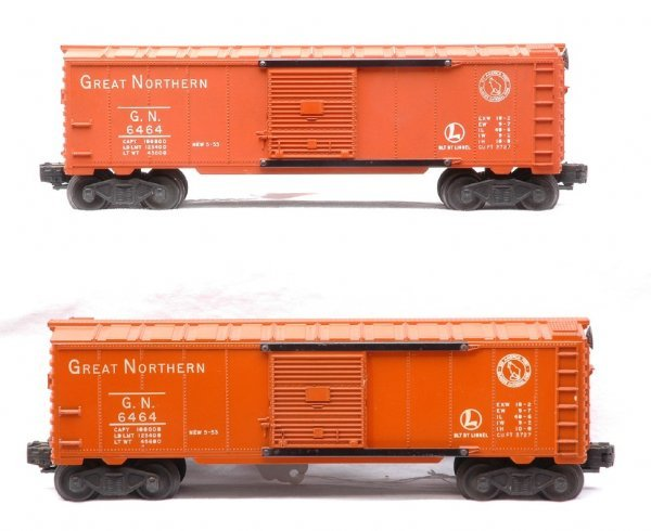 17: Lionel 2-6464-25 Great Northern Type I Boxcars