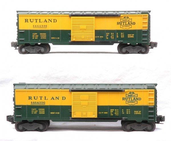 18: Lionel 6464-300 Type IIa Type IIb Rutland Boxcars