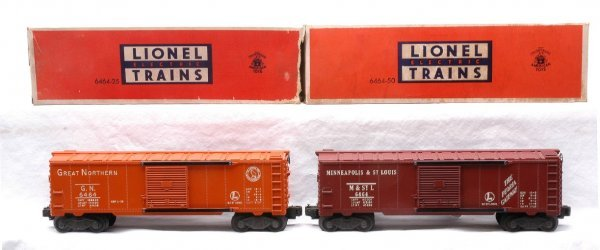 604: Lionel 6464-25 GN 6464-50 M&StL Boxcars MINT OBs