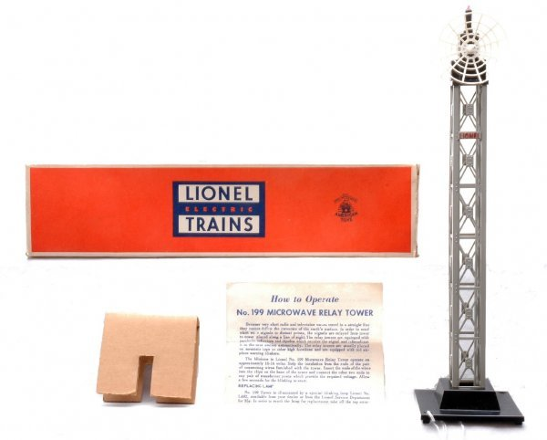 607: Lionel 199 Microwave Relay Tower MINT Boxed