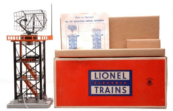 609: Lionel 197 Rotating Radar Antenna LN Boxed