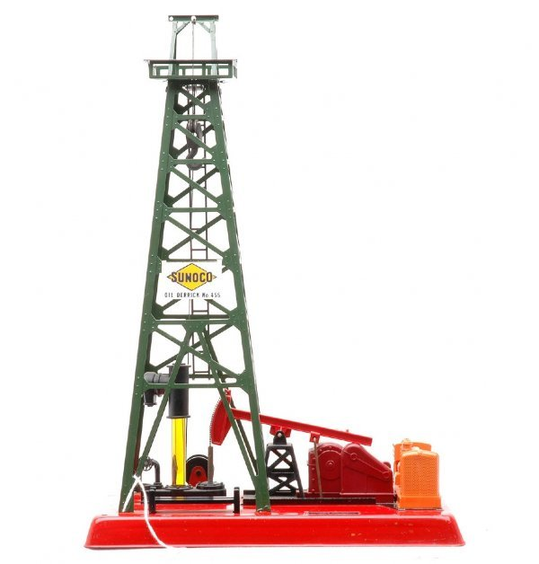 611: Lionel 455 Oil Derrick with Sunoco Sign
