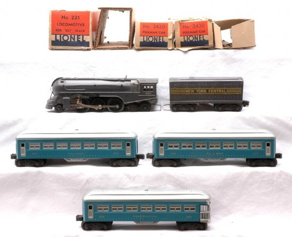 612: Lionel Blue Pass Set 1400W 221 221W 2430 2431