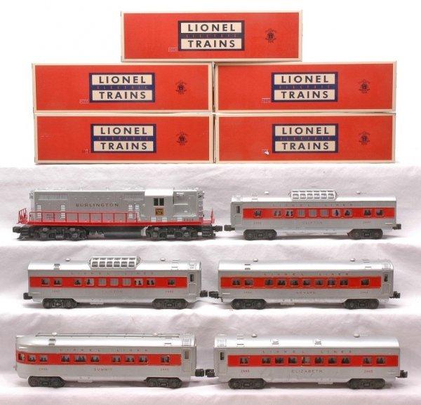 622: Lionel Burlington Pass Set 1562W 2328 2442 2445 - 2