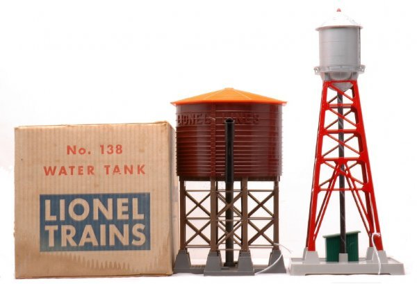 623: Lionel 138 Water Tower OB 193 Water Tower LN