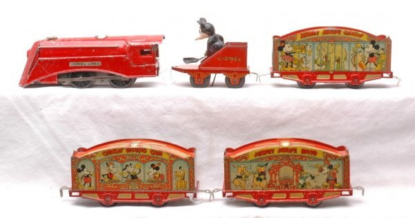 693: Lionel Litho Mickey Mouse Circus Set no. 1536