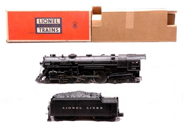 759: Lionel 773 Hudson Loco with 2426W Tender Boxed