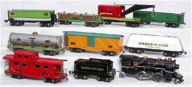 31: American Flyer prewar steam freight set,