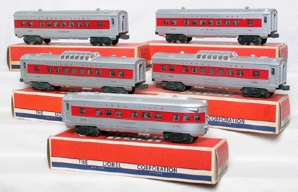 569: Lionel 2442, 2442, 2443, 2445, 2446 red stripe
