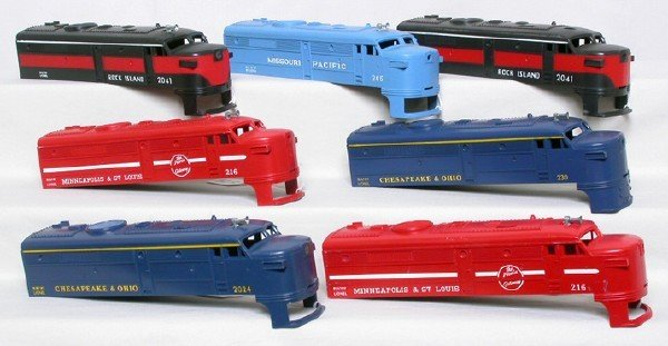 579: Lionel unused shells 216, 205, 230, 2024, 2041