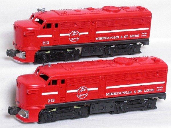 581: Two Unrun MStL Lionel 213 alco dummy units