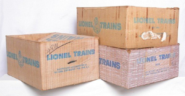 582: Lionel set boxes 1589WS, 2257WS and 2255W