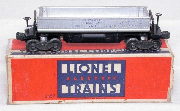 584: Lionel aluminum bin 3459 dump car, OB