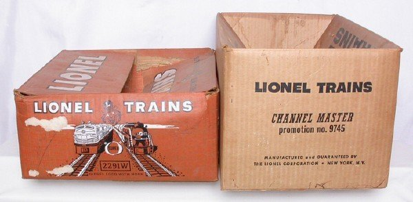 585: Lionel boxes 9745 Channel master and 2291W