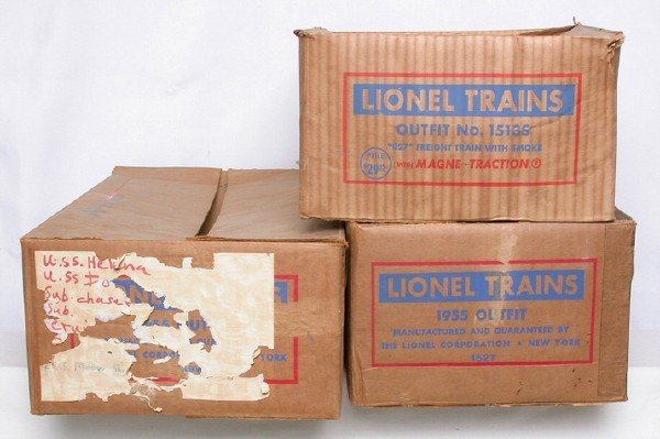 586: Lionel set boxes 2239W, 1513S and 1527