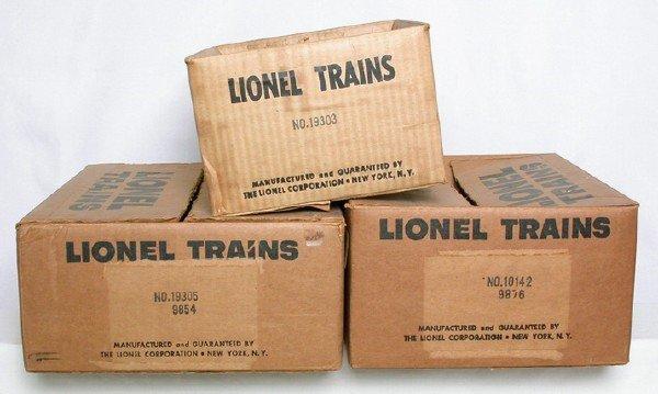 587: Lionel boxes 19305/9854, 10142/9876, 19303