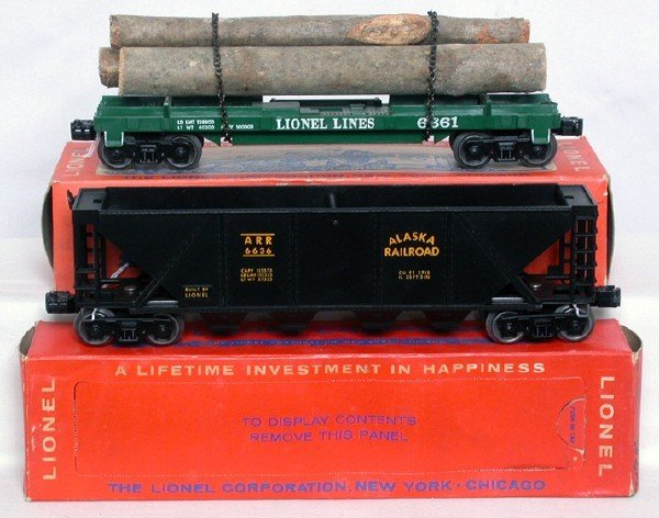 711: Mint Lionel 6361 log and 6636 Alaska in boxes
