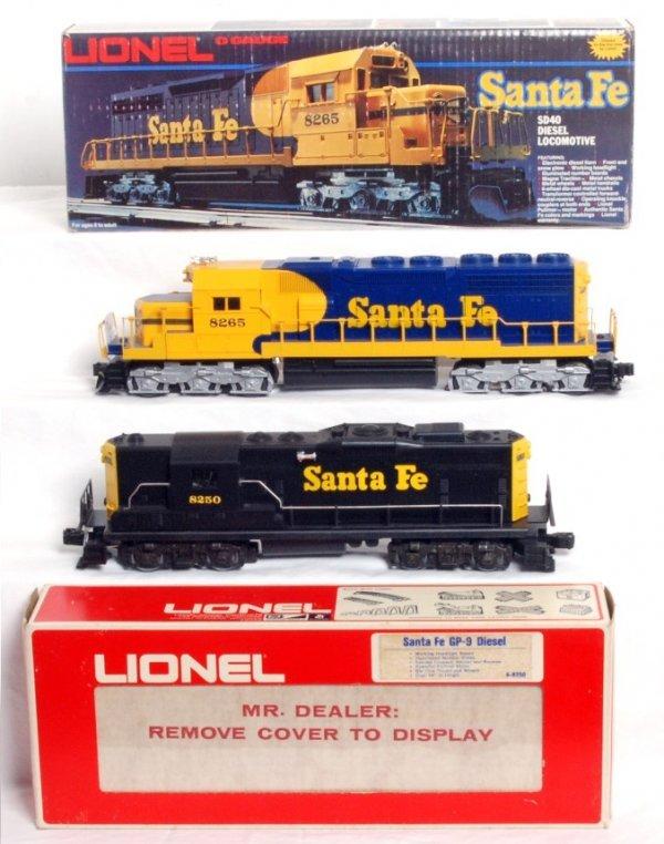 2: Lionel 8250 and 8265 Santa Fe diesel locos in OB