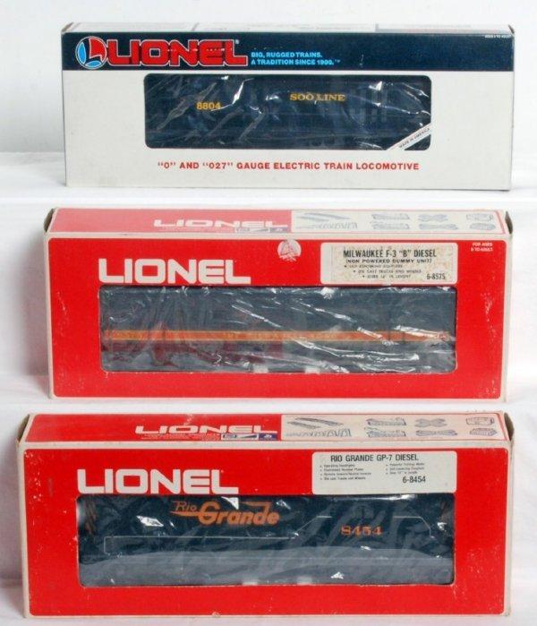 4: Lionel diesel locos 18804, 8575, 8454 in OB