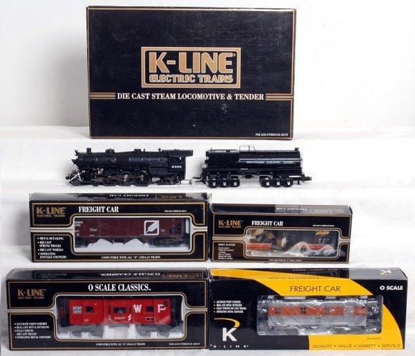5: K-Line K3388-2488IC SP loco w/4 freight cars in OB