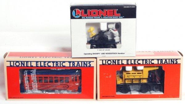 6: Three Lionel O gauge motorized units in OB