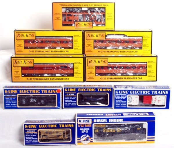 10: K-Line and MTH Rail King MP-15, freight and pass