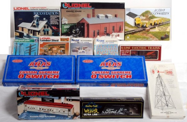 20: Lionel, K-Line, Atlas, Weaver, kits, cars, building