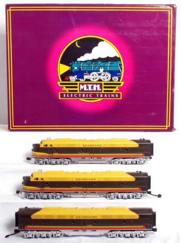24: MTH No. 20-2168-1 Seaboard diesel A-B-A set in OB