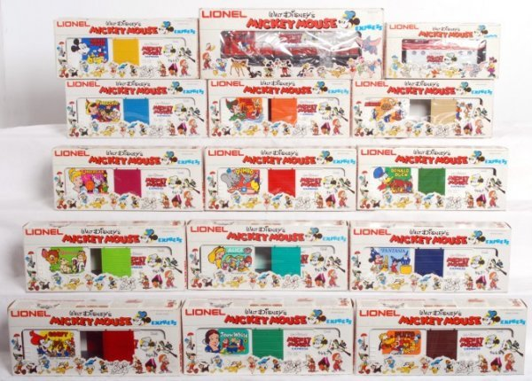 262: Complete Lionel O gauge Mickey Mouse Express set
