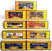 253 Nine MTH Rail King freight cars in original boxes
