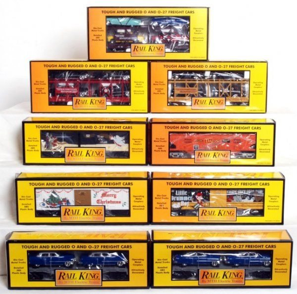 253: Nine MTH Rail King freight cars in original boxes
