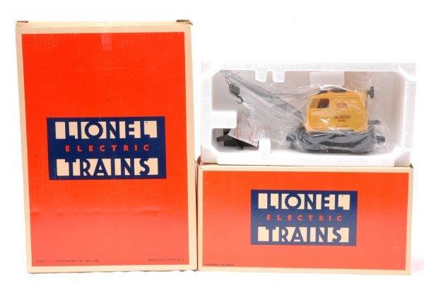 3: Lionel 12922 NYC Gantry 18402 Burro Cranes MIB