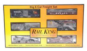 216 RK by MTH 307001 Wabash 6Care Freight Set MIB