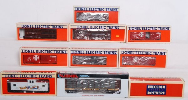 7: Lot of 10 Lionel rolling stock