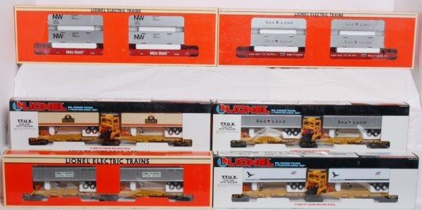 523: Lot of six Lionel TTUX sets