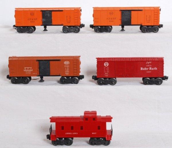 7: Lionel 3464, 3464, 3464, 6014, 6017 postwar freight