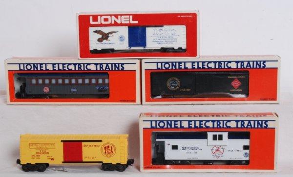 8: Six Lionel TCA convention cars