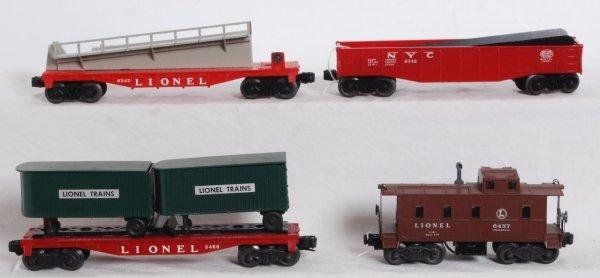 19: Lionel 3460 w/vans, 6343, 6342, 6457 postwar freigh
