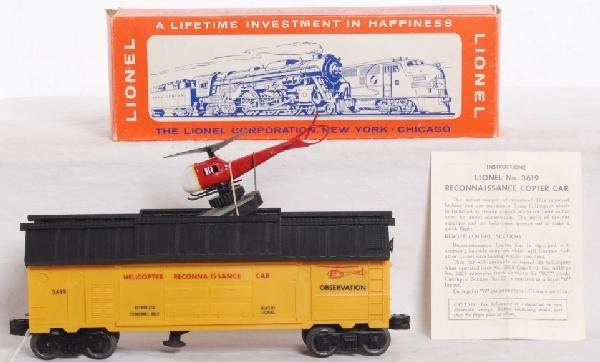 236: Dark yellow Lionel No. 3619 in OB w/instruc.