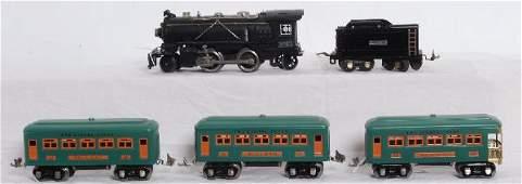 362: Prewar Lionel 262E loco, tender, 607, 607, 608