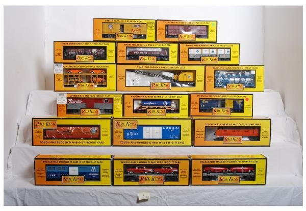 1: Lot of 17 Railking cars,  7944, 79212, 7466, Etc.