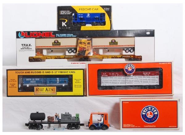 18: Mixed lot of speeders and cars Lionel MTH, K line
