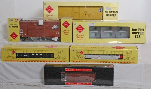 1: 6 Aristo Craft  freight cars, C&NW, Soo,  Etc,