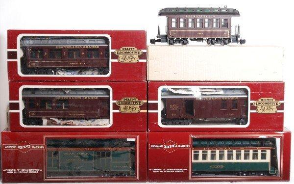 19: 6 Delton and Bachman D&RGW/PRR passenger cars